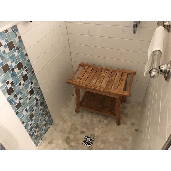 Shop NewRidge Home Natural Bamboo Shower Bench - Free Shipping Today ...
