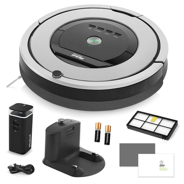 iRobot Roomba 860 Vacuum Cleaning Robot + Dual Mode Virtual Wall Barriers (With Batteries) + Extra High Efficiency Filter + More