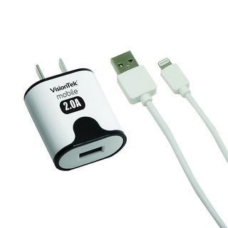 Visiontek 900930 2 Amp 3.2 Ft. Home Charger With Lightning Cable