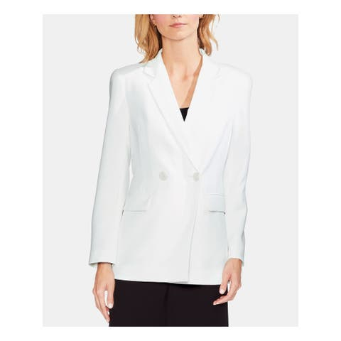 VINCE CAMUTO Womens White Wear to Work Jacket Size 8