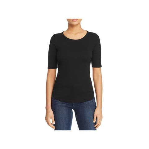 Three Dots Womens Knit Top Cotton Tie Back