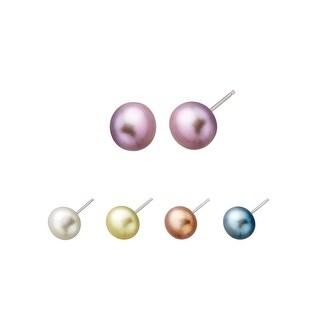 Honora Set of 5 Freshwater Pearl Stud Earrings in Sterling Silver - multi-color