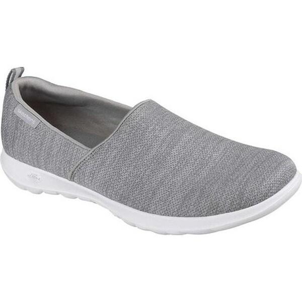 40c1d4090406 Shop Skechers Women s GOwalk Lite Starlet Slip-On Walking Shoe Gray ...