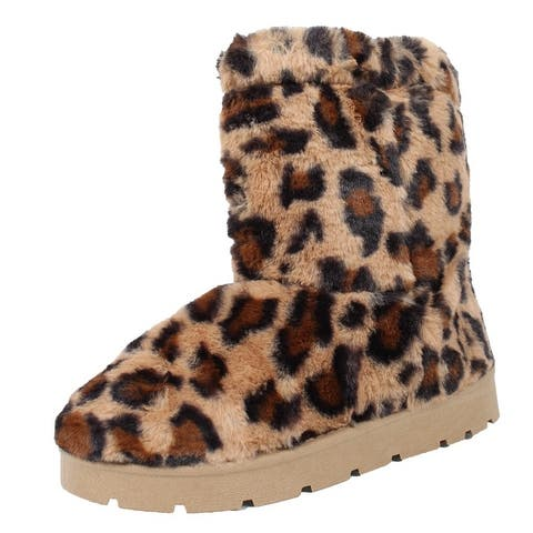 Bamboo's Women's All Over Faux Fur Ankle Booties