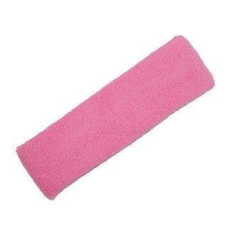 CTM® Cotton Terry Cloth Sport Tennis Sweat Headband - One size