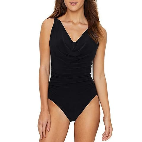 Magicsuit Women's Magic Solids Suzette One Piece Swimsuit Black SZ 12