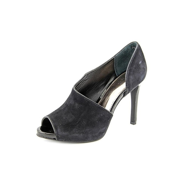Alfani Womens LUSEE Leather Open Toe D-orsay Pumps