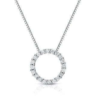 Circle of Life Diamond 1990s Diamond Circle Pendant Necklace Diamond Pendant Circle Of Love Diamond Necklace 12 CT TW Diamond Pendant