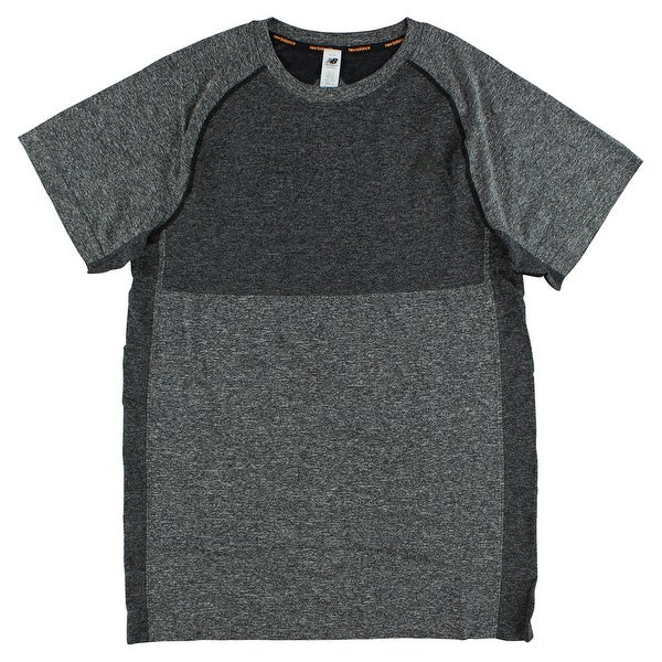 fb5c53d8ecba7 Shop New Balance Mens M4M Seamless Short Sleeve Shirts Heather Black -  Heather Black - XL - On Sale - Free Shipping Today - Overstock - 22613676