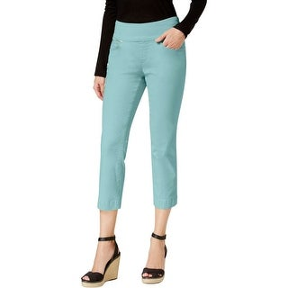 Jag Jeans Womens Echo Cropped Pants Flat Front Casual