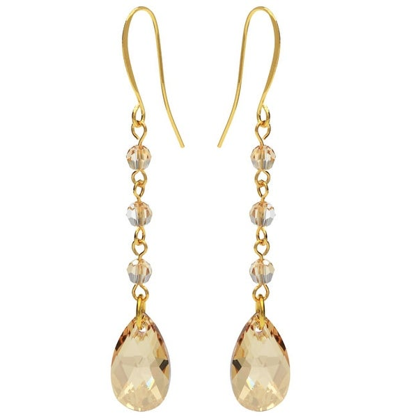 Swarovski Drop Earrings - Golden Shadow - Exclusive Beadaholique Jewelry Kit