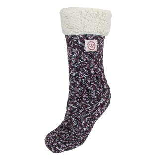 Dearfoams Women's Marled Knit Blizzard Slipper Socks