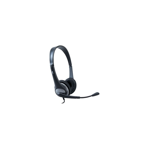 Cyber Acoustics AC-204 Cyber Acoustics AC-204 Headset - Stereo - Wired - 20 Hz - 20 kHz - Gold Plated - Over-the-head - Binaural