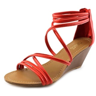 Carlos by Carlos Santana Venice Women Open Toe Synthetic Red Wedge Sandal