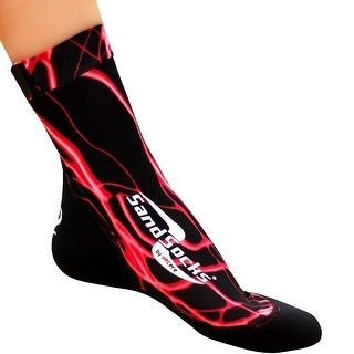 Sand Socks Classic High Top Neoprene Athletic Socks - Red Lightning