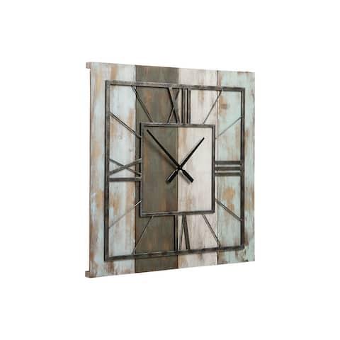 "Perdy Rustic Gray Wall Clock - 26""W x 1""D x 26""H"