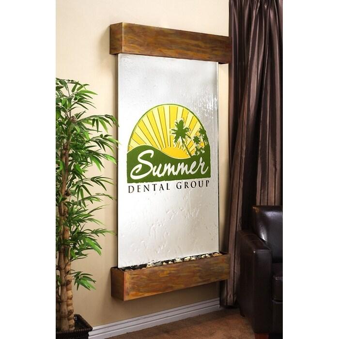 Adagio Summit Falls Fountain w/ Silver Mirror in Rustic Copper Finish - Thumbnail 0