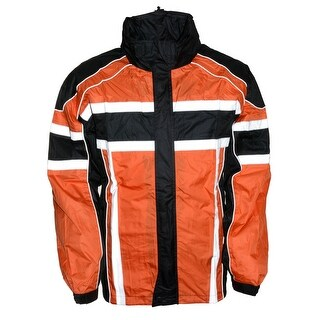 Mens Water Resistant Rain Suit - Reflective Tape