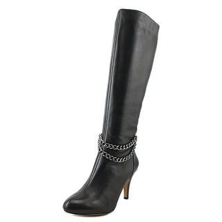Vince Camuto Valli Women  Round Toe Leather Black Knee High Boot