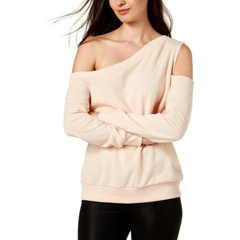 Rachel Rachel Roy Womens Sweatshirt French Terry One Shoulder - S
