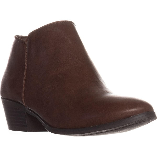 SC35 Wileyy Flat Ankle Boots, Cognac