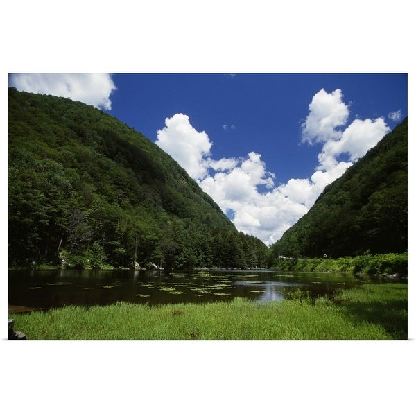 """""""Notch Lake in summer, Catskill Mountain State Park, New York"""" Poster Print"""