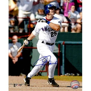 Rafael Palmeiro signed Texas Rangers 8x10 Photo (swinging)