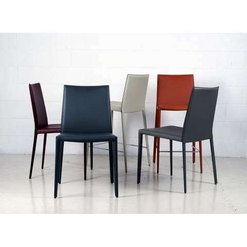 Prima Modern Leather Coated Side Chair - Contract Grade