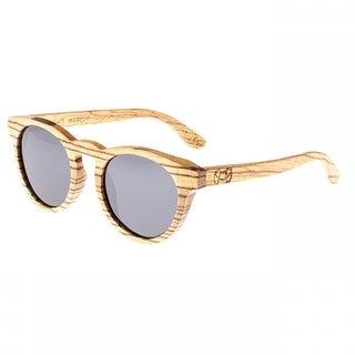 Earth Wood Cocoa Unisex Wood Sunglasses - 100% UVA/UVB Prorection - Polarized Lens - Multi