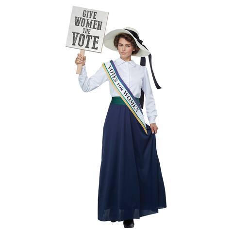 Womens American Suffragette Halloween Costume