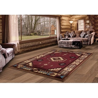 Link to Westfield Home Graham Liberty Border Hand-Carved Area Rug Similar Items in Rugs