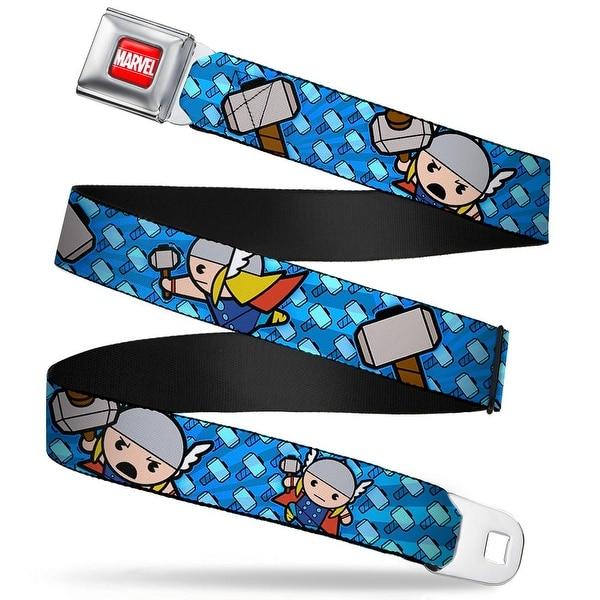 Marvel Universe Marvel Full Color Red White Kawaii Thor Poses Hammer Seatbelt Belt