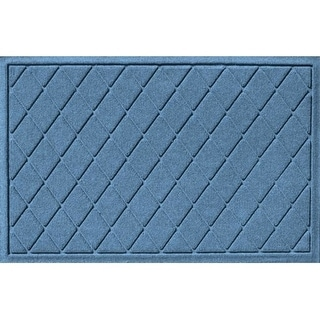 20377580023 Water Guard Argyle Mat in Bluestone - 2 ft. x 3 ft.