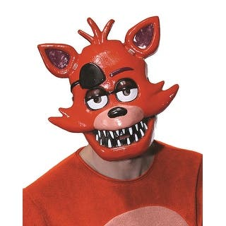 Five Nights at Freddy's Foxy Costume Half Mask Adult|https://ak1.ostkcdn.com/images/products/is/images/direct/12adcbbe33bdcedeee79be7437429e27e038f2dc/Five-Nights-at-Freddy%27s-Foxy-Costume-Half-Mask-Adult.jpg?impolicy=medium