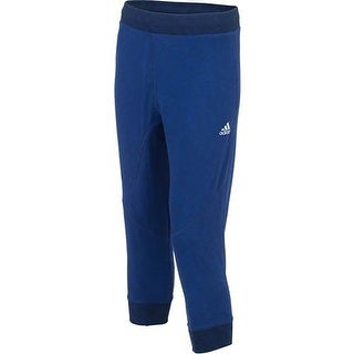 Adidas NEW Navy Blue Mens Size 2XL Pull-On Cropped Drawstring Pants