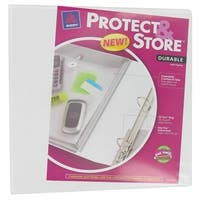 Avery 23000 1 in. White Protect & Store Binder