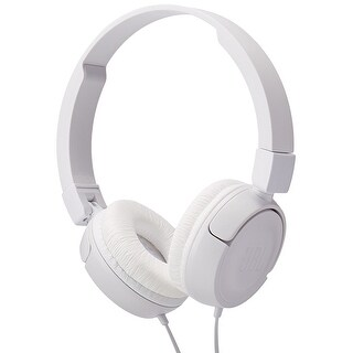 JBL T450 Wired On Ear Headphones with Pure Bass Sound & 1-Button Remote with Microphone