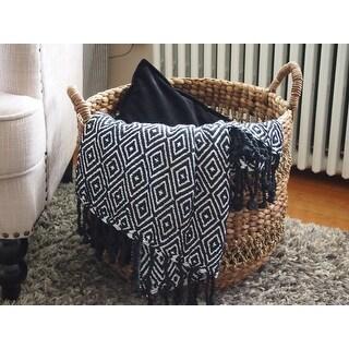 Soft Cotton Diamond Weave 60-inch Throw Blanket (Set of 2)