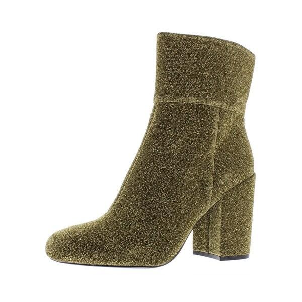 7f31ff21513 Shop Steve Madden Womens Goldeeee Booties Block Heel - Free Shipping ...