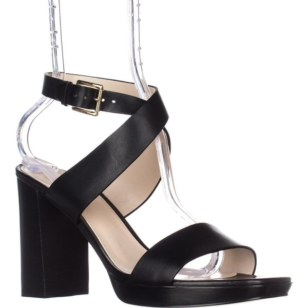 Cole Haan Fenley High Platform Dress Sandals, Black Leather