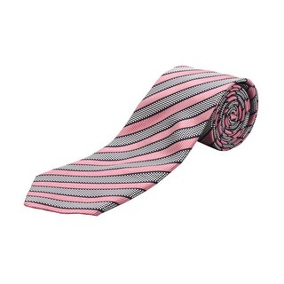 Ermenegildo Zegna Men Slim Silk Neck Tie Pink Navy