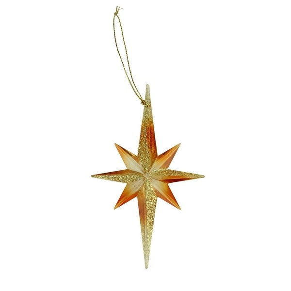 "5"" Celebration Gold Glitter Moravian Star Christmas Ornament"