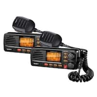 Uniden UM380BK 2-Pack VHF Two Way Marine Radio