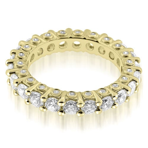 2.64 cttw. 14K Yellow Gold Stylish Round Cut Diamond Eternity Band Ring