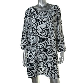 Tahari ASL Womens Petites Jay Printed Cowl Neck Party Dress - 12P