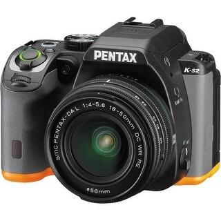 Pentax K-S2 DSLR Camera with 18-50mm Lens (Black/Orange)