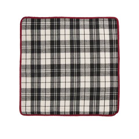 Glitzhome Christmas 18-inch Plaid Throw Pillow Cover