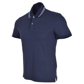 Gucci Men's 353900 Blue Web Stripe Interlocking GG SLIM Polo Shirt S