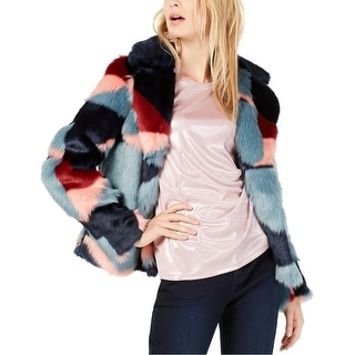 Link to I-N-C Womens Faux Fur Jacket, multicoloured, Large Similar Items in Women's Outerwear