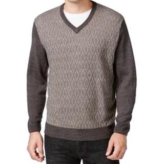 Weatherproof NEW Dark Gray Men's Size XL Pullover V-Neck Sweater